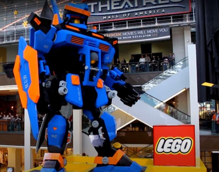 lego sculptures herobot
