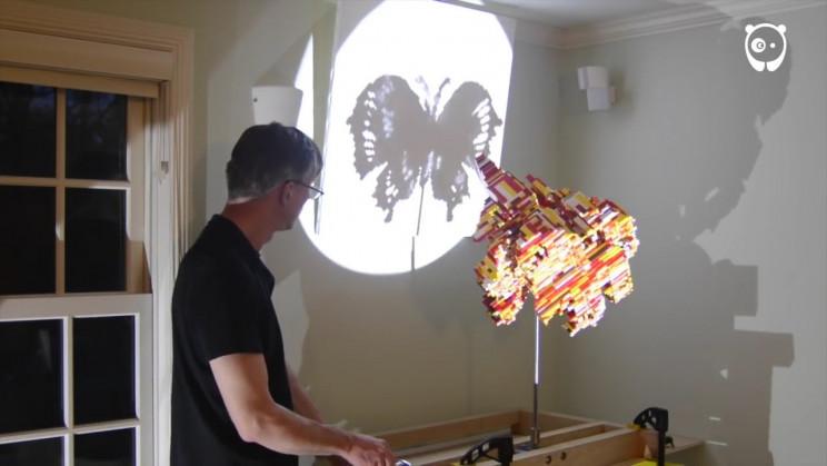 lego scupltures shadow art