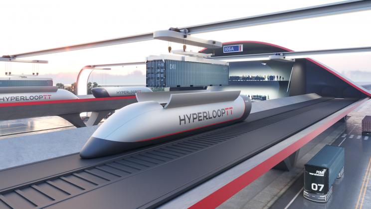 A New Zero-Emission Hyperloop Port Offers Ground Transport at 'Airplane Speeds'