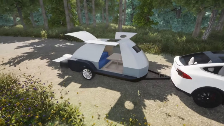 Portable Battery-Extension Trailer Intersects EVs with RV Enthusiasts