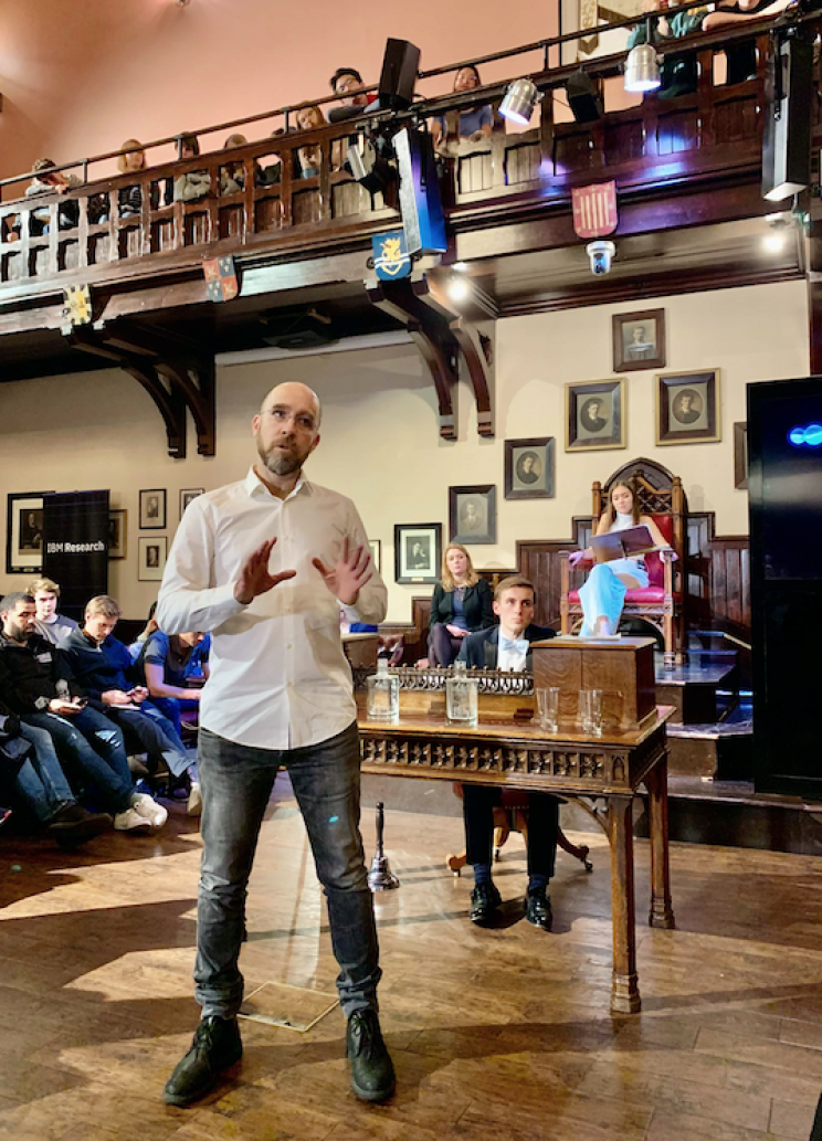 IBM Robot Discusses the Dangers of AI at Cambridge Union Debate