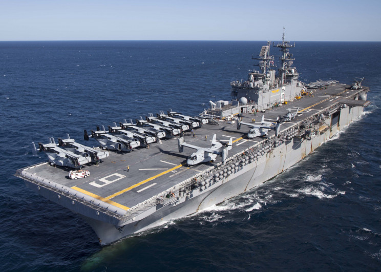 US Navy Decommissions USS Bonhomme Richard Assault Ship after Fire