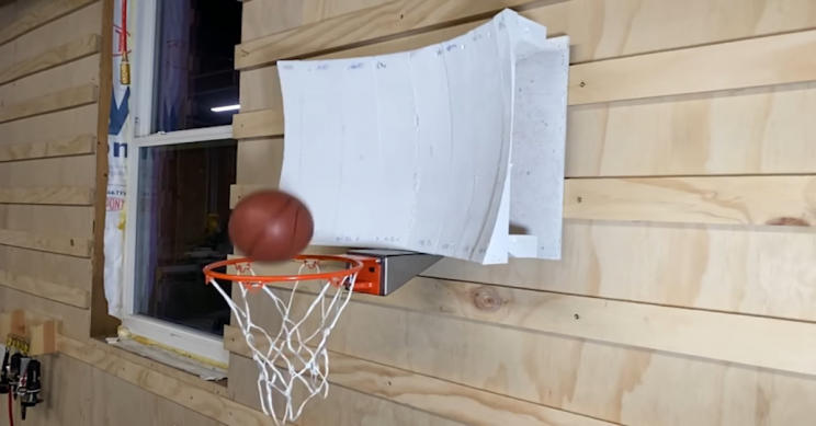 Physics and Computer Simulations Helped Create a Never-Miss Basketball Hoop
