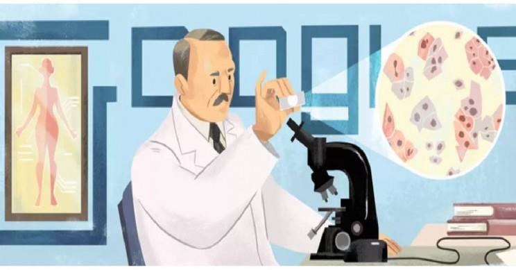 Google Doodle Celebrates Pap Smear Inventor Georgios Papanikolaou