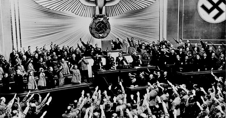 Adolf Hitler Announces The 'Peaceful' Annexation Of Austria In The Reichstag