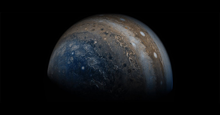 A View Of One Of Jupiter's Poles