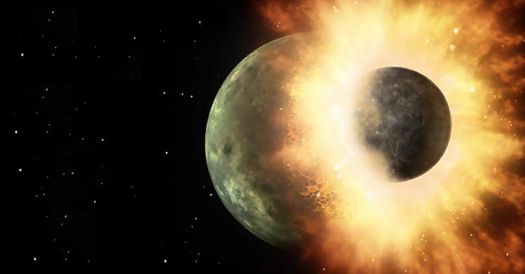 Protoplanetary Collision Resulting In An Enormous Release Of Energy