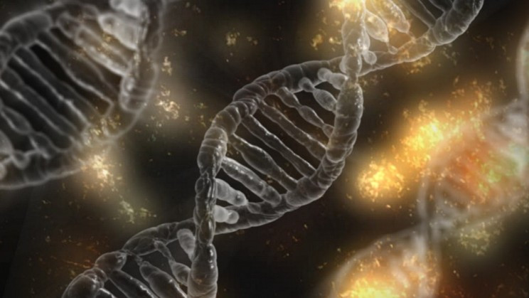 An Artist's Impression of the DNA Double-Helix Being Edited by CRISPR/Cas9