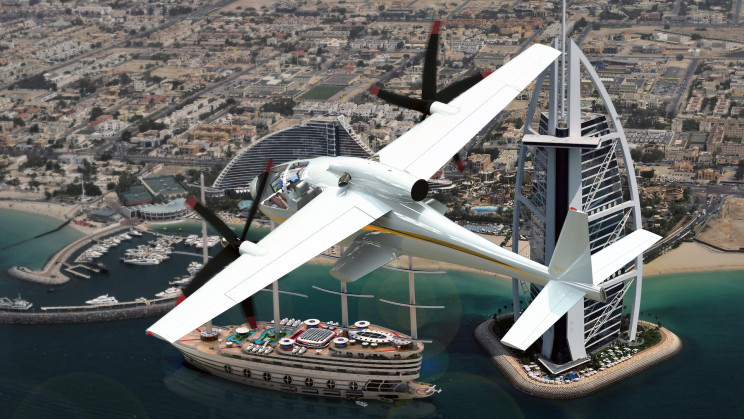 Yacht Designer's New eVTOL Concept Can Land Vertically or Using a Runway