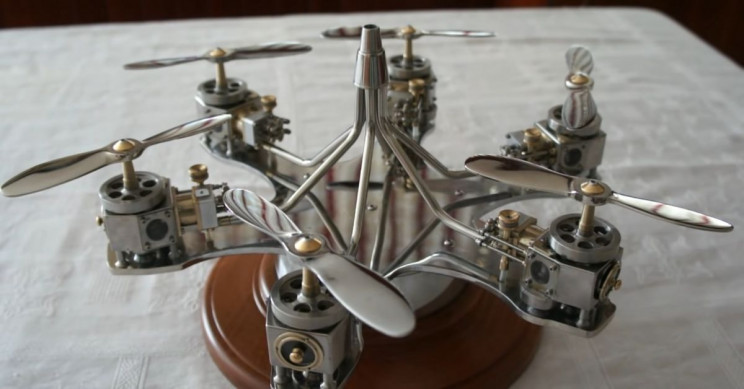 80-Year-Old Mechanic Handcrafts a Charming Flightless Drone