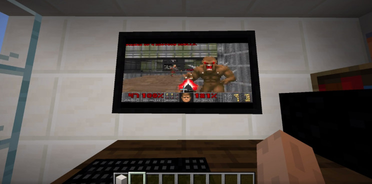 You Can Now Play DOOM on a Windows 95 PC Inside Minecraft