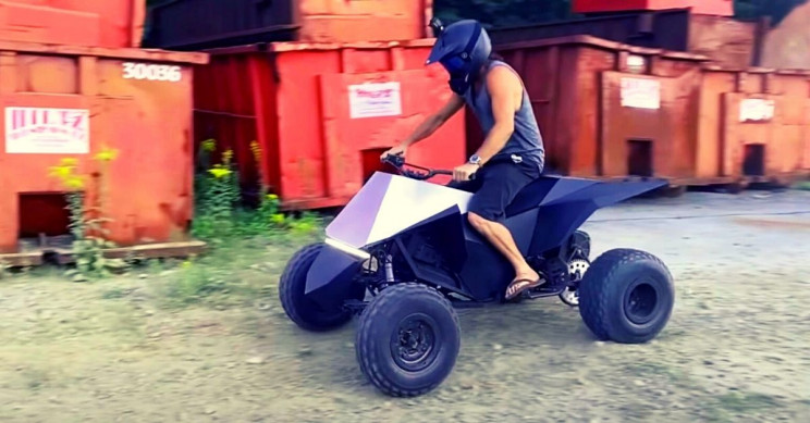 Tesla Cyberquad DIY Electric ATV Goes 100 MPH in Video