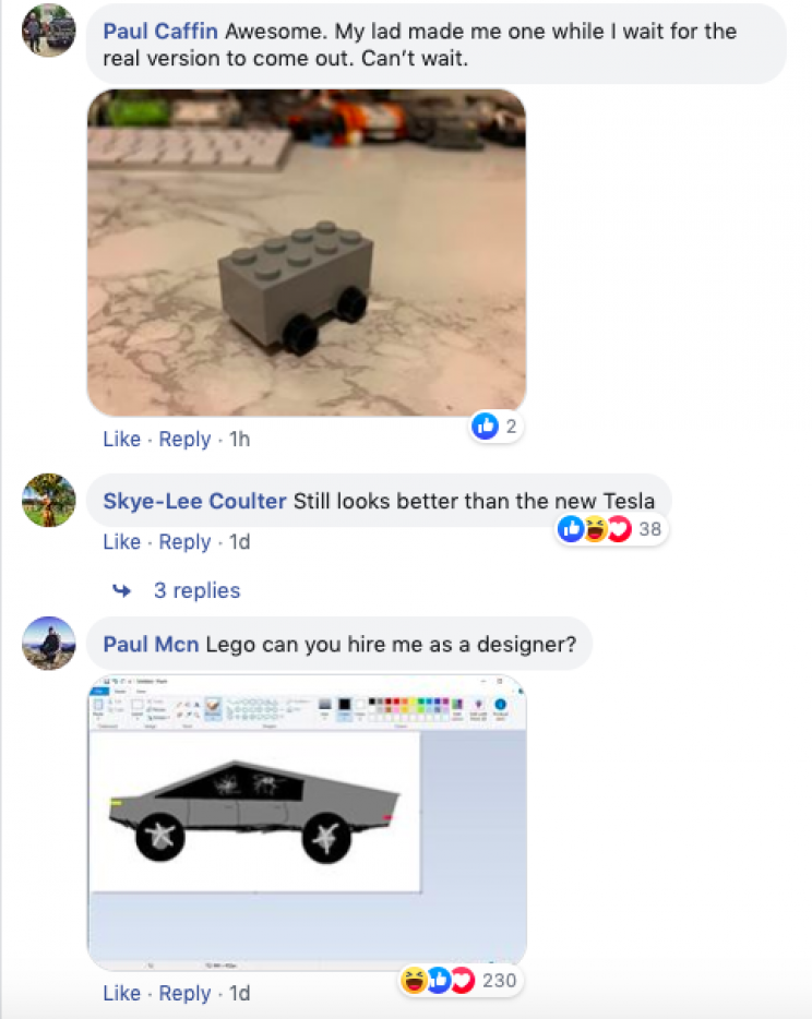 Tesla's Cybertruck Takes Another Hit as Lego Trolls It with Its Own 'Shatterproof' Version