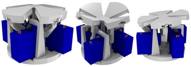 Robot Fingertip Three Morphing Modes