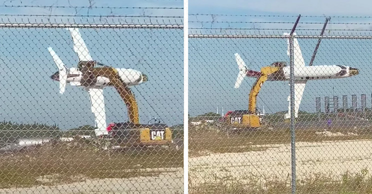 Florida Man Flies Learjet With Excavator Like a Toy Plane