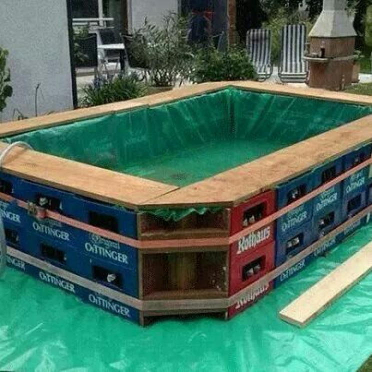 outdoor pools beer crates