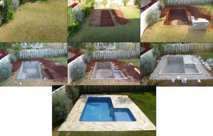 temp outdoor pools cinder blocks
