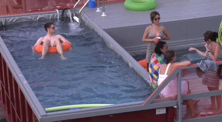 temp outdoor pool container