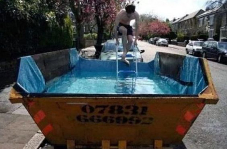 temp outdoor swimming pool skip