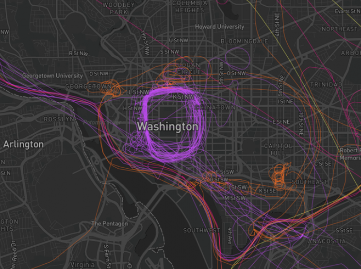 These Maps Allow You to Find the Police Planes That Surveyed the Protests in Your City