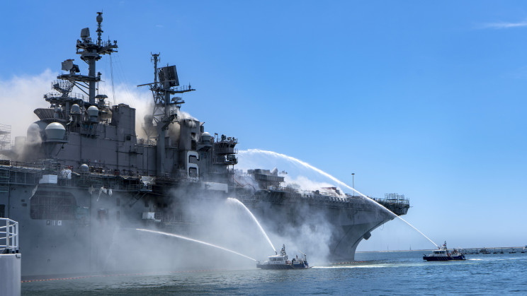 Most Striking Images of the USS Bonhomme Richard Fire