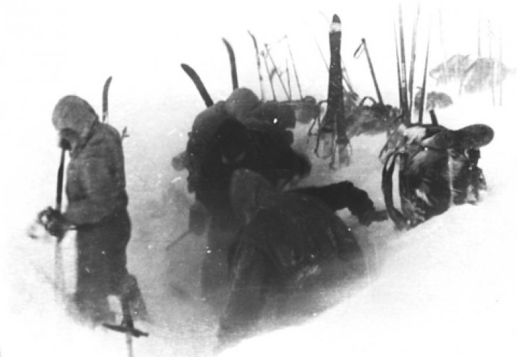 Photo from Dyatlov's camera showing the last camp