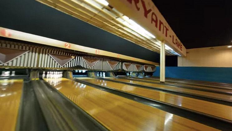 Watch a Drone Seamlessly Fly Through a Bowling Alley