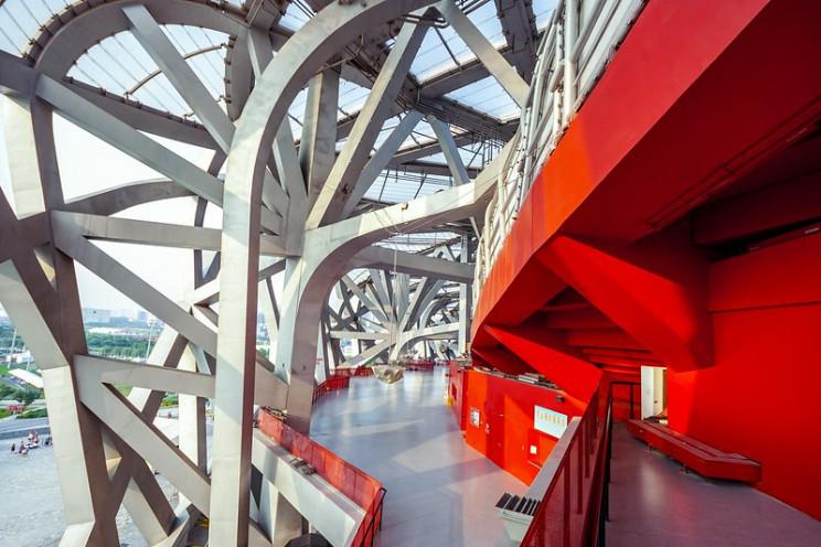 beijing national stadium internal structure