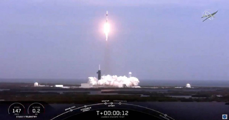 Final SpaceX Test of Its Crew Dragon Capsule Breaking Away Mid-Launch Was a Success