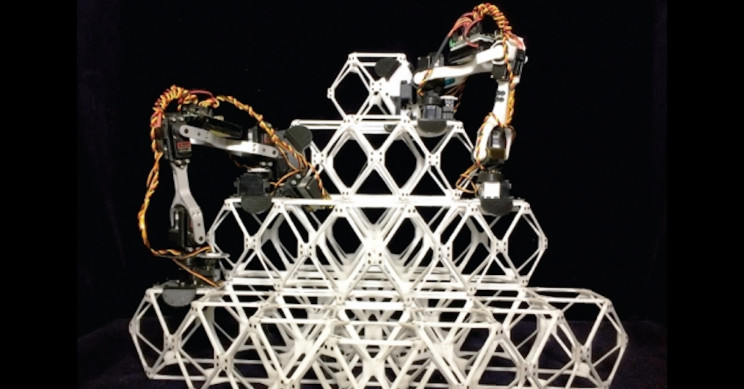 Assembler Robots Build Complicated Structures Out of Small Identical Pieces