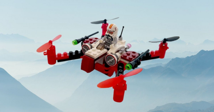 This STEM-Friendly Space Fighter Building Block Drone Is Just $40