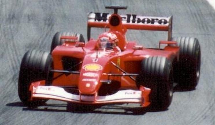 Michael Schumacher driving Ferrari