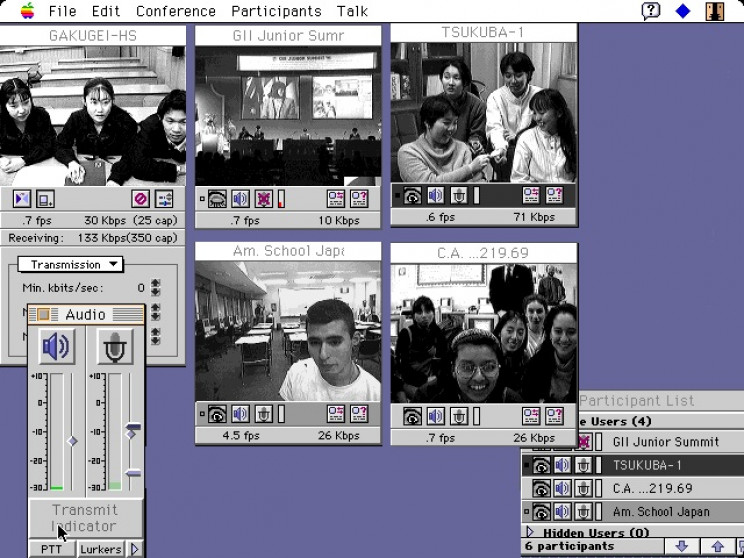 history of the web video chat