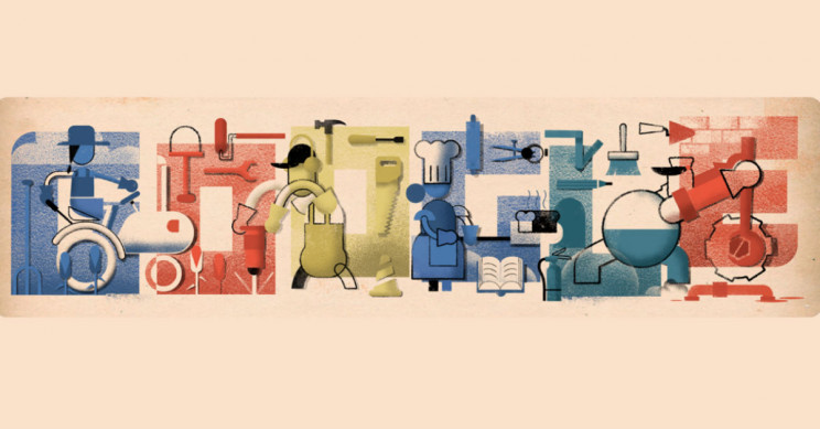 Google Celebrates Workers and Their Rights with a Labor Day Doodle