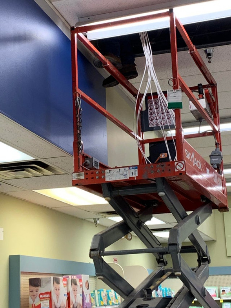 poor health and safety scissor lift