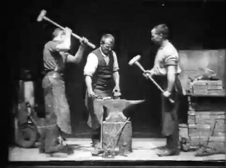 motion pictures history blacksmith scene