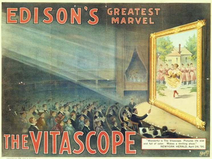motion picture history vitascope