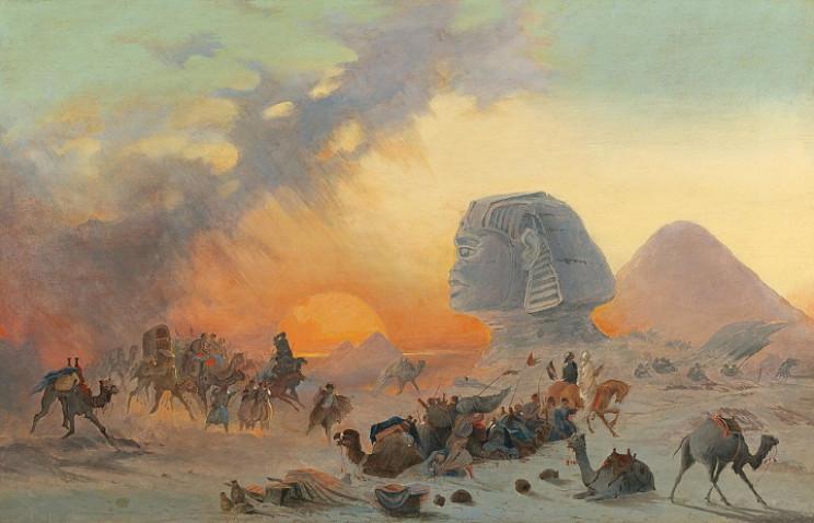 Camel caravan in Egypt