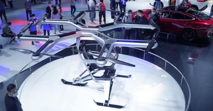 Chinese Tesla Competitor Unveils Flying Car at Beijing Auto Show