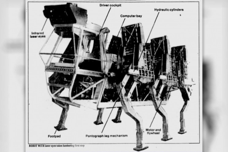 That Time When US Army Developed Six-Legged Walking Robots in the 1980s