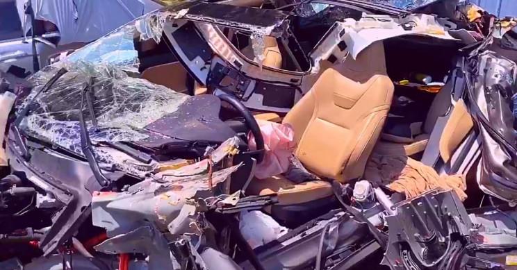 Tesla Model S Destroyed