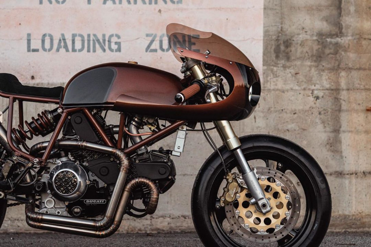 Ducati 900 SS Customized With Cyberpunk-Style Copper Body
