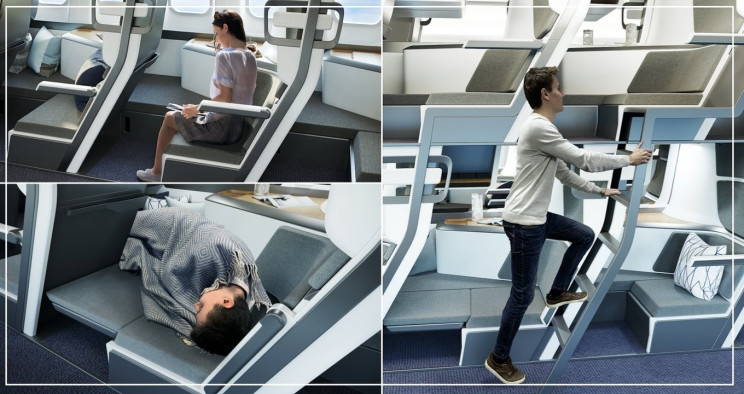 Double-Decker Style Airplane Design Could Allow Passengers to Lie Flat