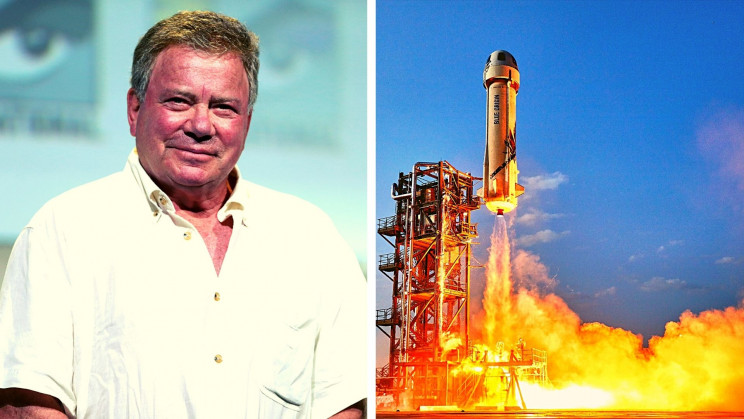 Star Trek's William Shatner Just Launched to Space Aboard a Blue Origin Rocket