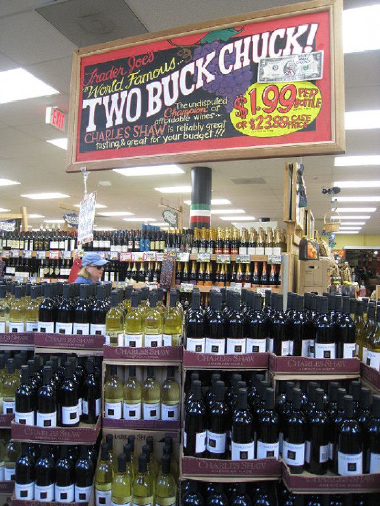 Two Buck Chuck at Trader Joe's