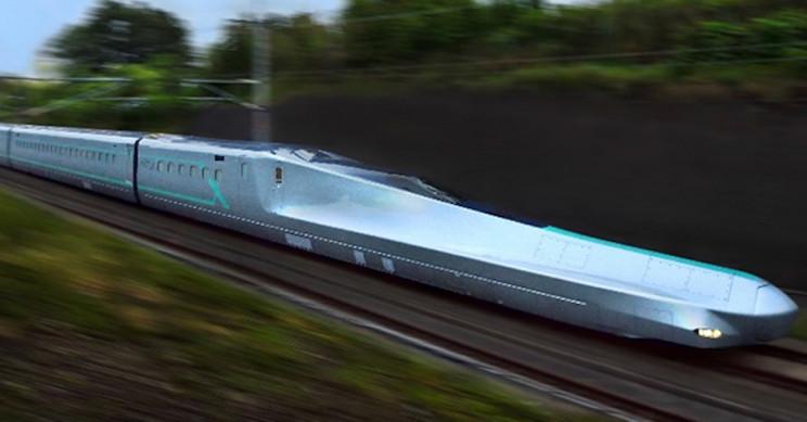 Japan's Experimental Bullet Train ALFA-X Reaches 237 MPH in First Test Ride