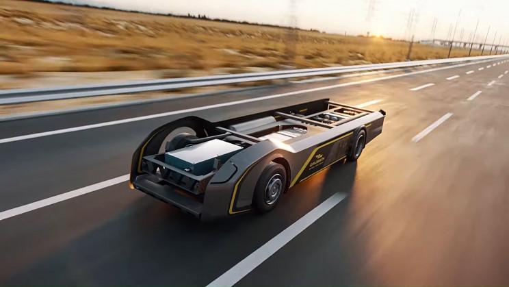 "World's First 100% Hydrogen ""Skateboard"" Truck Has A 500 Mile Range"