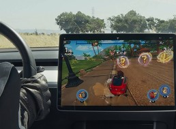 Tesla Adds New Racing Game to Its Growing In-Car Gaming System