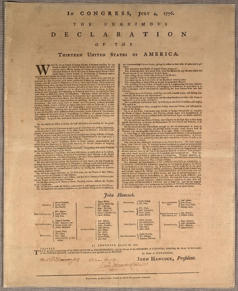 photograph about Printable Declaration of Independence identified as The 1776 Printing of the U.S. Declaration of Liberty