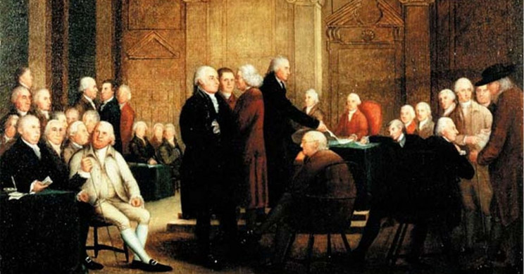 The Historical Printing and Signing of the U.S. Declaration of Independence